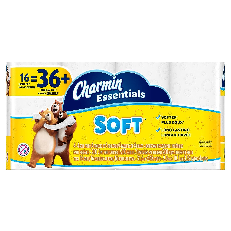 Charmin Essentials Soft Toilet Paper – 16 Giant Rolls – 1パック B01H1QC012
