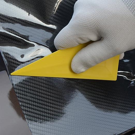 Winjun Weiche Rakel Dreieck f/ür Car Wrapping Folie schwierige Stellen Gelb 4 STK. 13x8cm