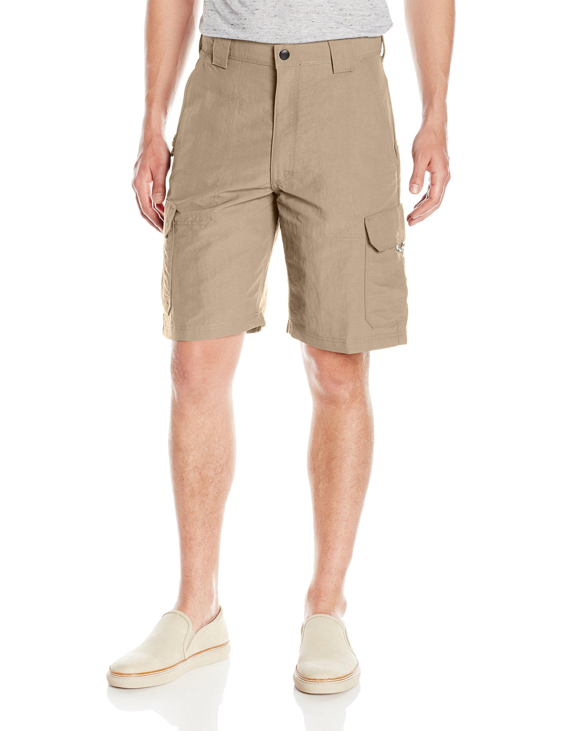 Wrangler Men's Authentics Outdoor Nylon Cargo Short, Desert Sand, 34