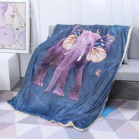 Amazon.com: FamFun - Manta para bebé con diseño de elefante ...