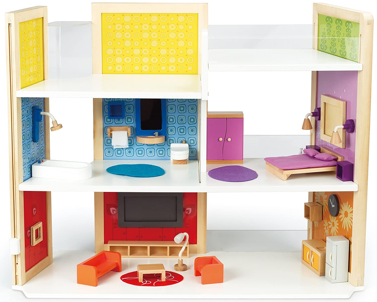 Hape Wooden Doll House Diy Dream Doll Kids Play Set