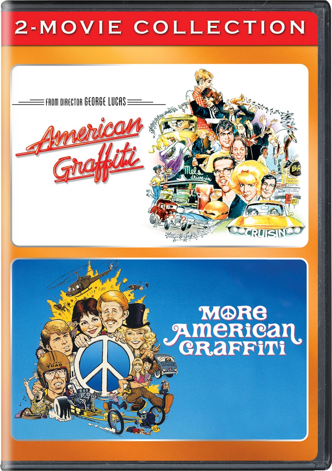 DVD : American Graffiti / More American Graffiti 2-movie Collection (2 Pack, 2PC)
