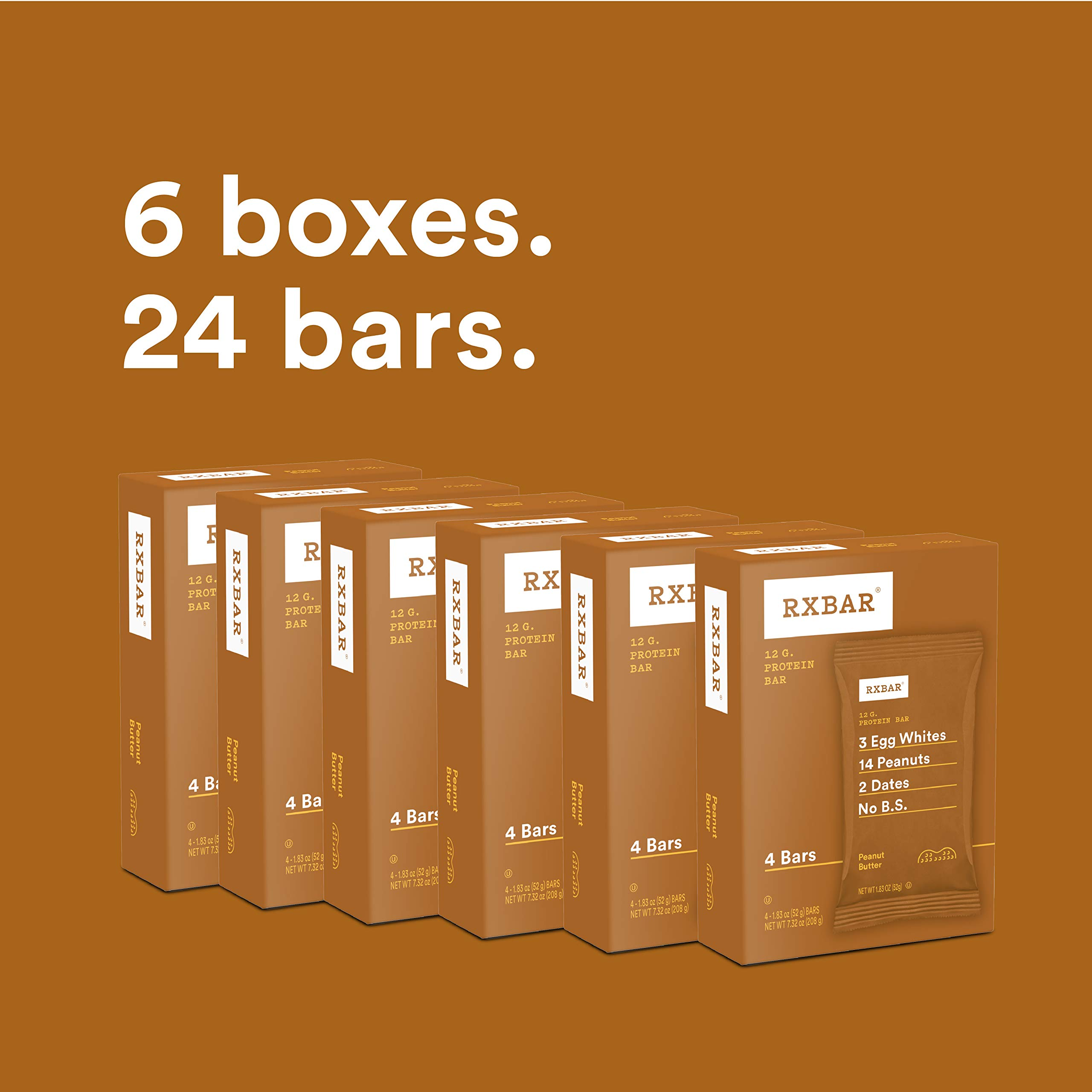 RXBAR Whole Food Protein Bar, Peanut Butter, 1.83 Ounce (Pack of 24) by RXBAR (Image #2)