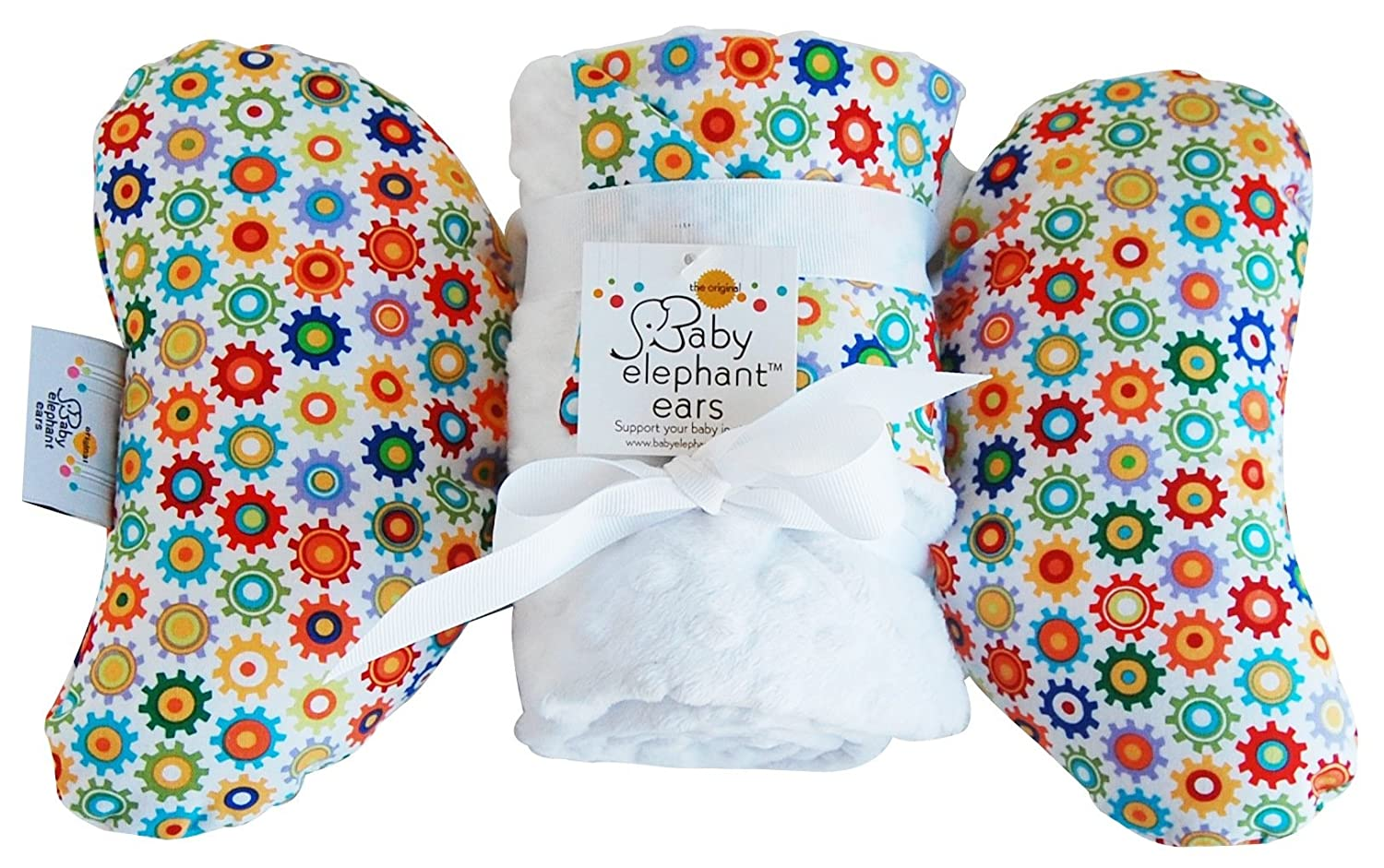 Baby Elephant Ears Head Support Pillow & Matching Blanket Gift Set (Sprockets)