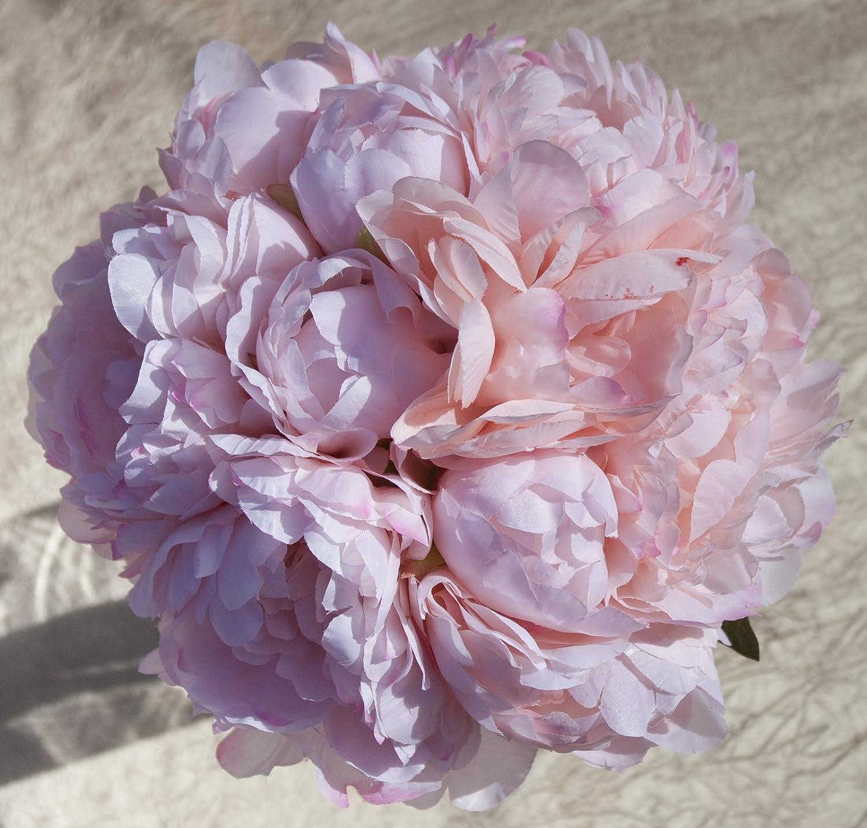 Amazon Com Pink Silk Peonies Bouquet Wedding Party Flowers