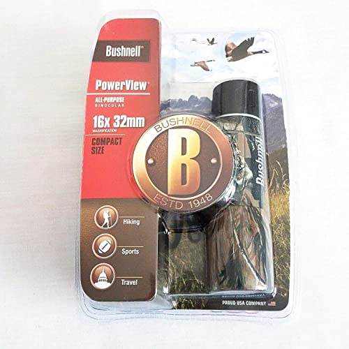 Bushnell Powerview 16×32 Binoculars, Camo