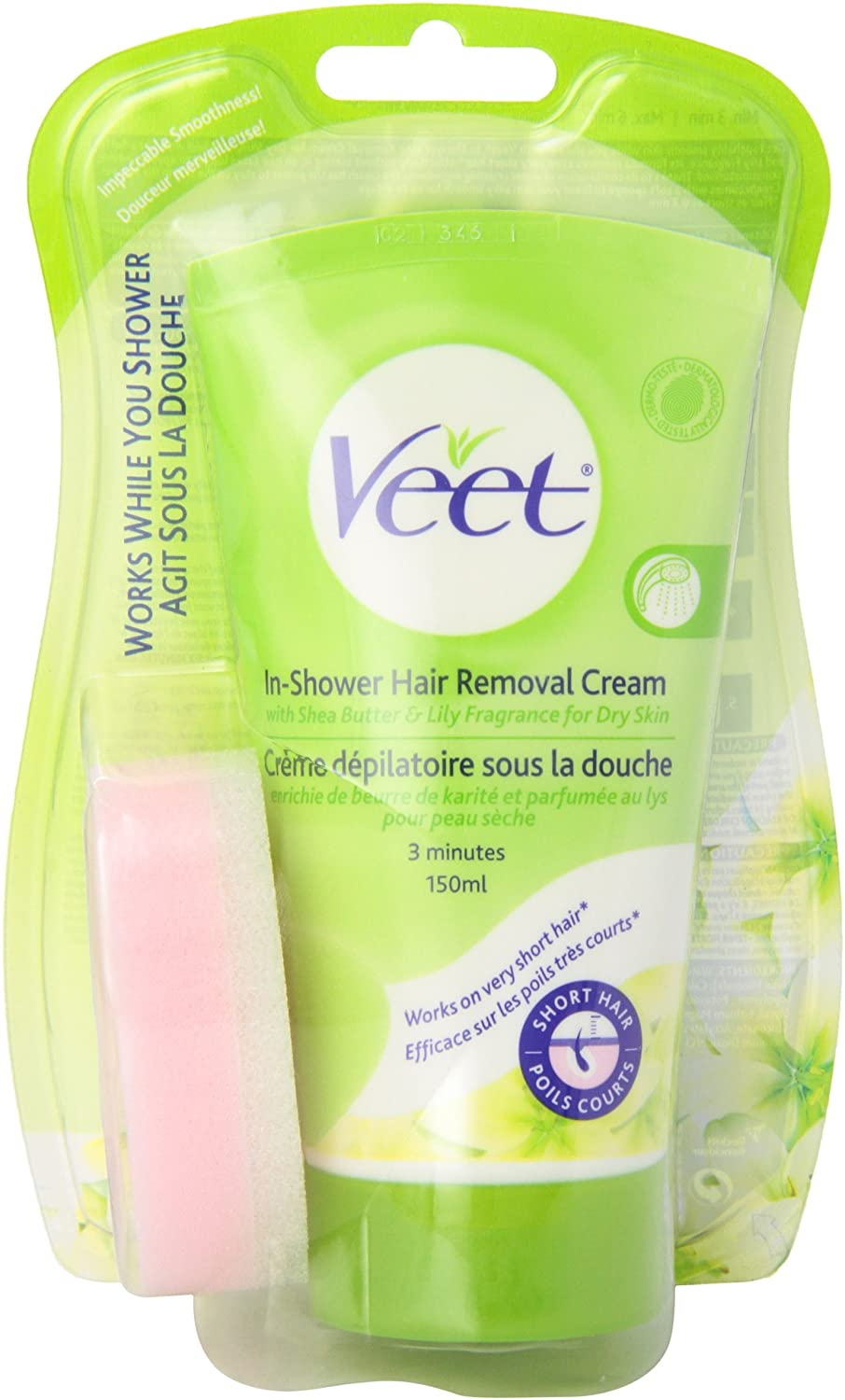 Amazon.com: Veet in-shower Depilación Crema Piel Seca, 5.1 ...