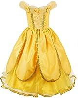 JerrisApparel Costume da principessa Belle Deluxe Vestito da festa Fantasia Le ragazze si vestono