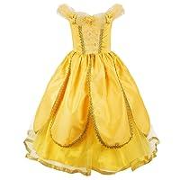 JerrisApparel Princesse Belle Costume De luxe Fête S'habiller pour Filles