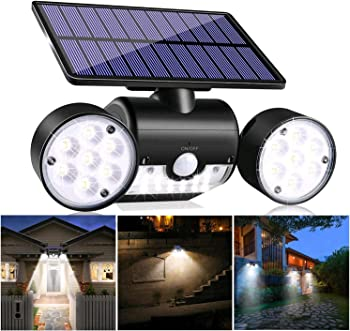 YUJENY Motion Sensor Light 30 LED Solar Security Light
