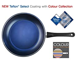 TeChef 12 inch blue frying pan with PFOA free coating
