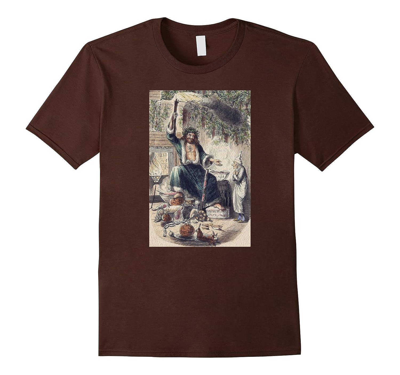 A Christmas Carol Scrooge Shirt- Christmas Present Ghost Tee-mt