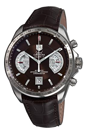 daf0239ae85ee Image Unavailable. Image not available for. Color  TAG Heuer Men s  CAV511E.FC6231 Grand Carrera Chronograph Calibre 17 RS Brown Dial Watch