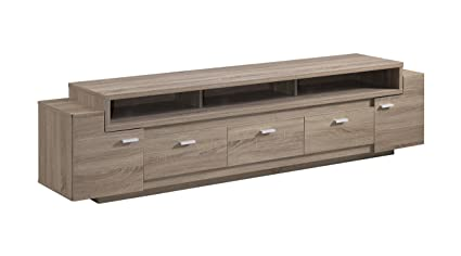 Amazoncom IoHOMES Coley Modern TV Stand Light Oak Kitchen - Modern tv stand and coffee table set