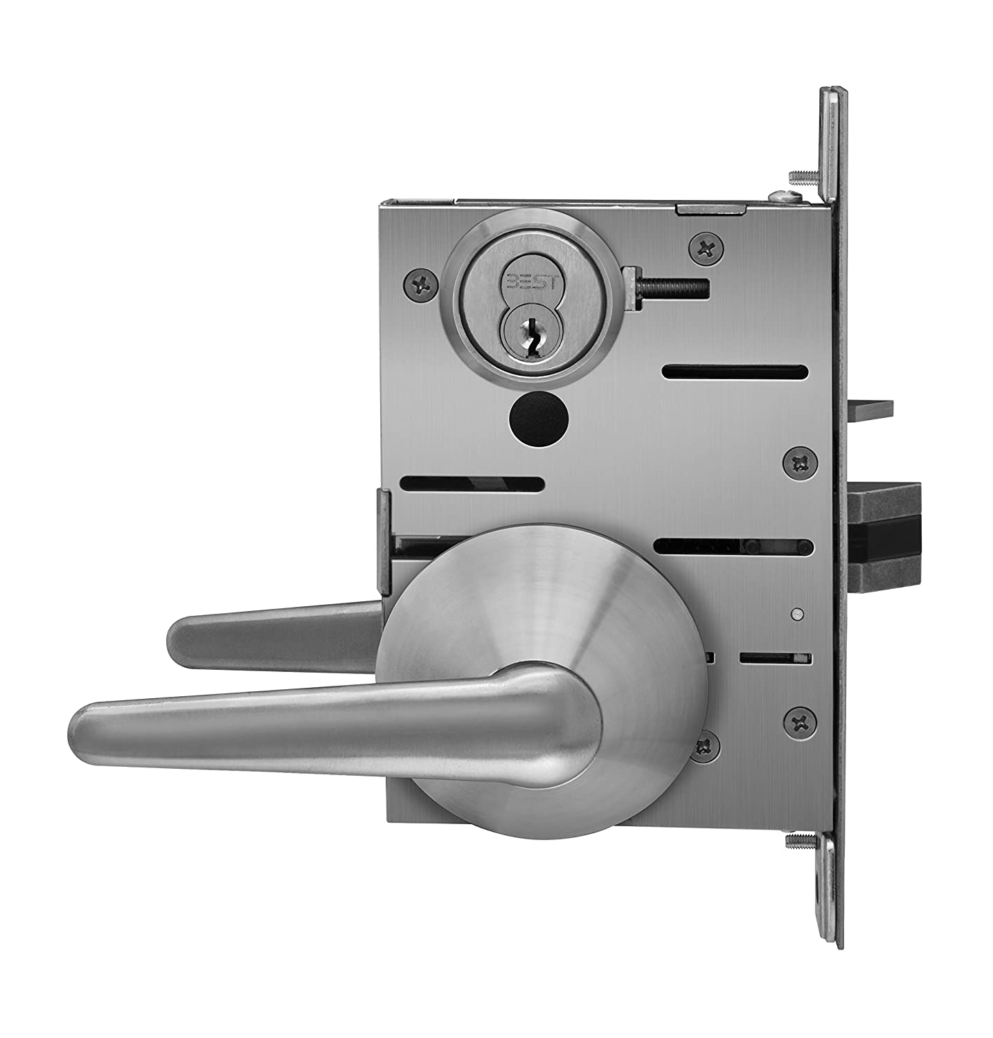 STANLEY SPSLMLD16F630LHR Patient Safety Storeroom Function Mortise Lever Satin Stainless Steel 2