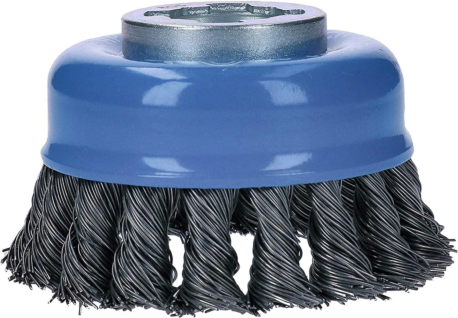 Wheel Dia Bosch WBX429 4-1//2 In X-LOCK Arbor Stainless Steel Full Cable Knotted Wire Wheel
