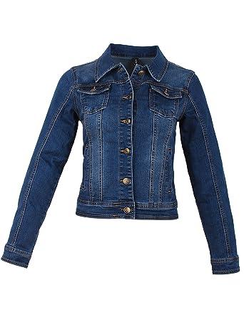 59aa79ca5f0a Fraternel Damen Jacke Jeansjacke Denim Jacket talliert Stretch  Amazon.de   Bekleidung