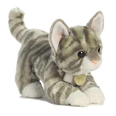 "Aurora - Miyoni - 9"" Grey Tabby Kitten: Toys & Games"