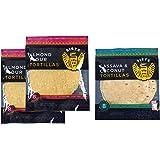Siete Paleo Tortillas Sampler Pack, 2 Almond Flour & 1 Cassava Coconut, 8 count (3 packs total)