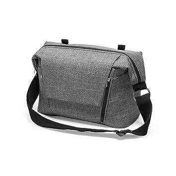 c92bb0f89825a Amazon.com : Stokke Changing Bag - Black Melange : Diaper Tote Bags : Baby