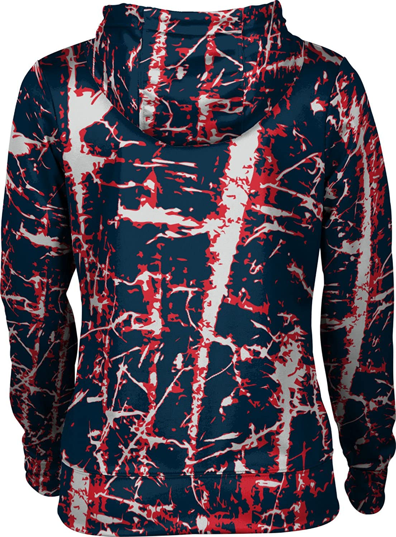 School Spirit Sweatshirt Distressed Howard University Girls Zipper Hoodie