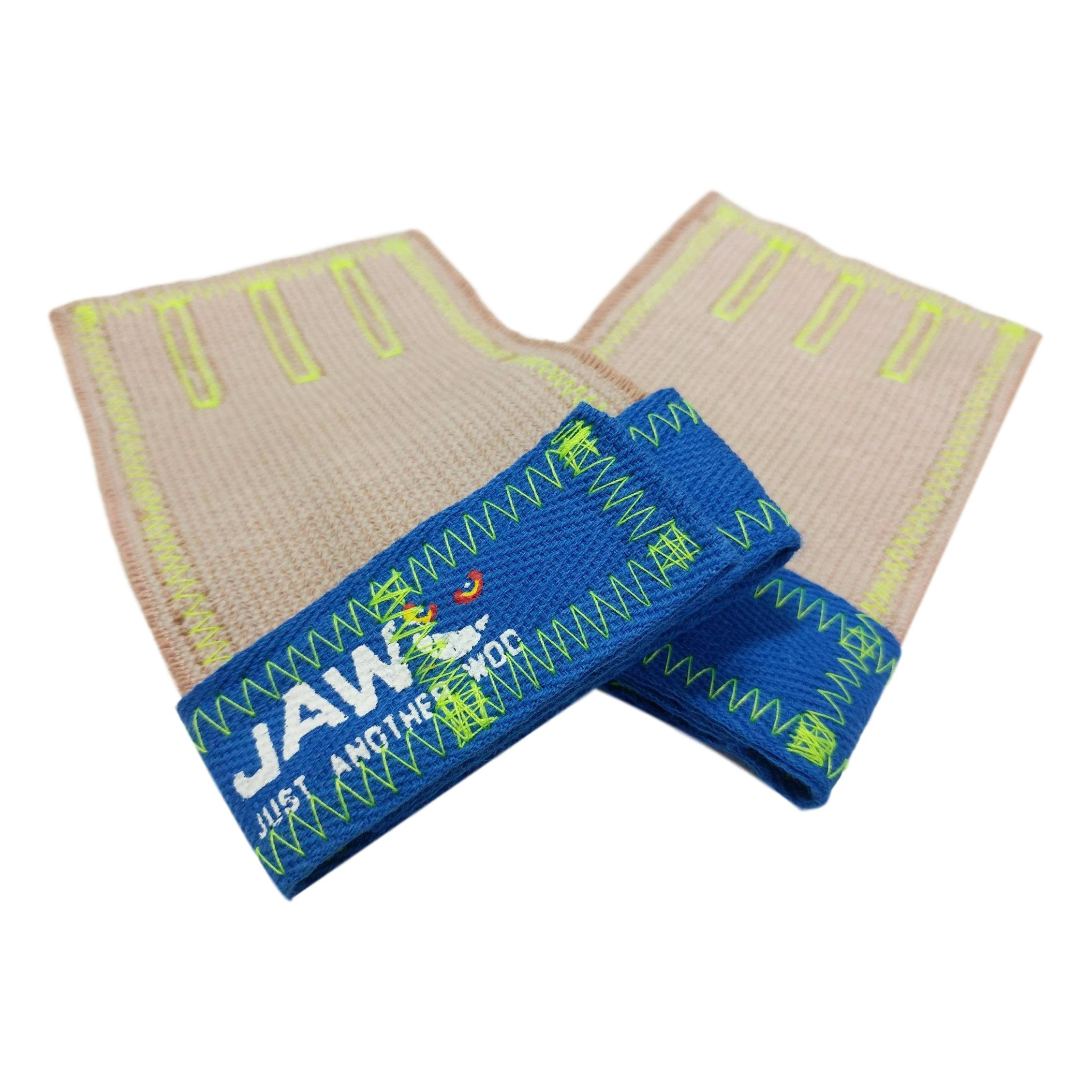 JAW Three's Hand Grips (Blue, Small)