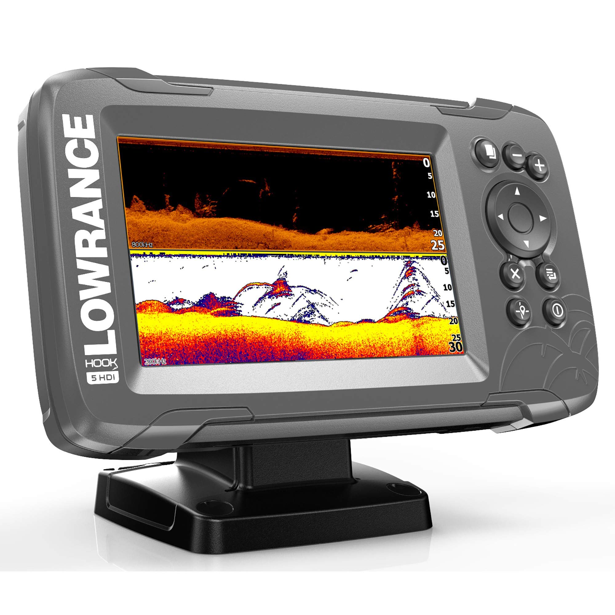 Lowrance Hook² 5 with SplitShot Transducer and US/Canada Nav+ Maps by Lowrance