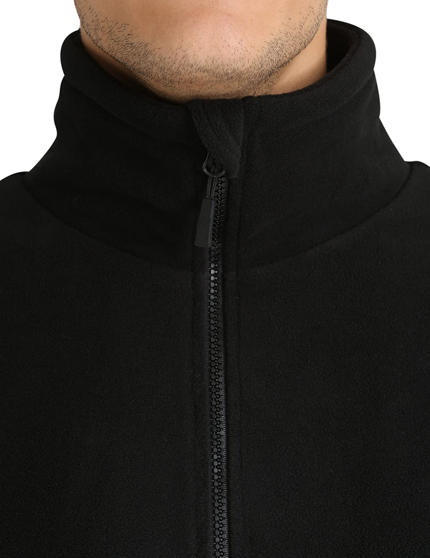 Lower East Giubbotto di pile da uomo con collo alto