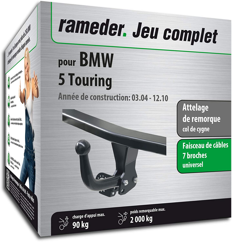Rameder Attelage dé montable avec Outil pour BMW 5 Touring + Faisceau 7 Broches (143468-05079-1-FR)
