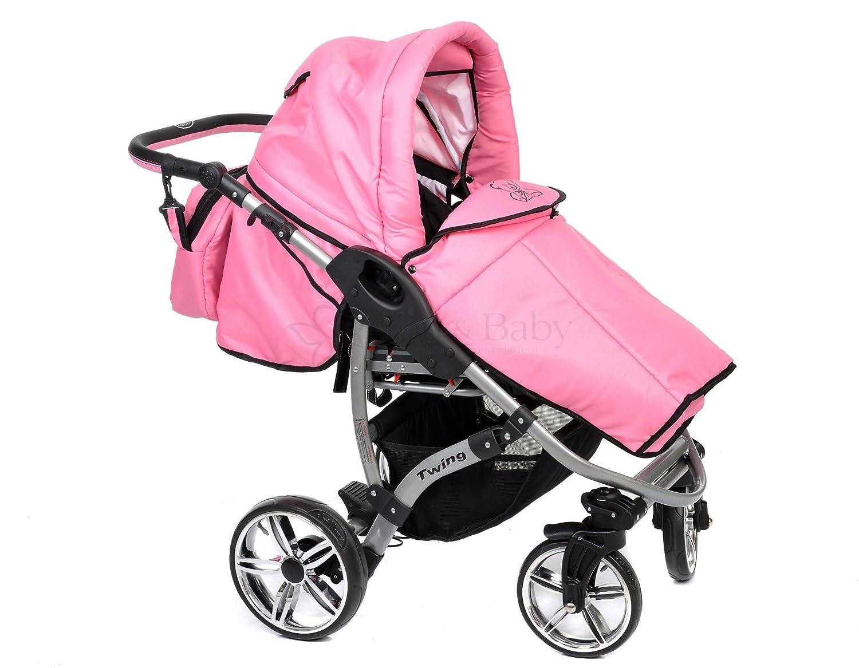 Allivio - Sistema de viaje 3 en 1, silla de paseo, carrito con capazo y silla de coche, RUEDAS GIRATORIAS y accesorios (Sistema de viaje 3 en 1, ...