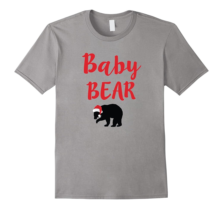 Baby Bear Christmas Santa Family Matching Pajamas T-Shirt-FL
