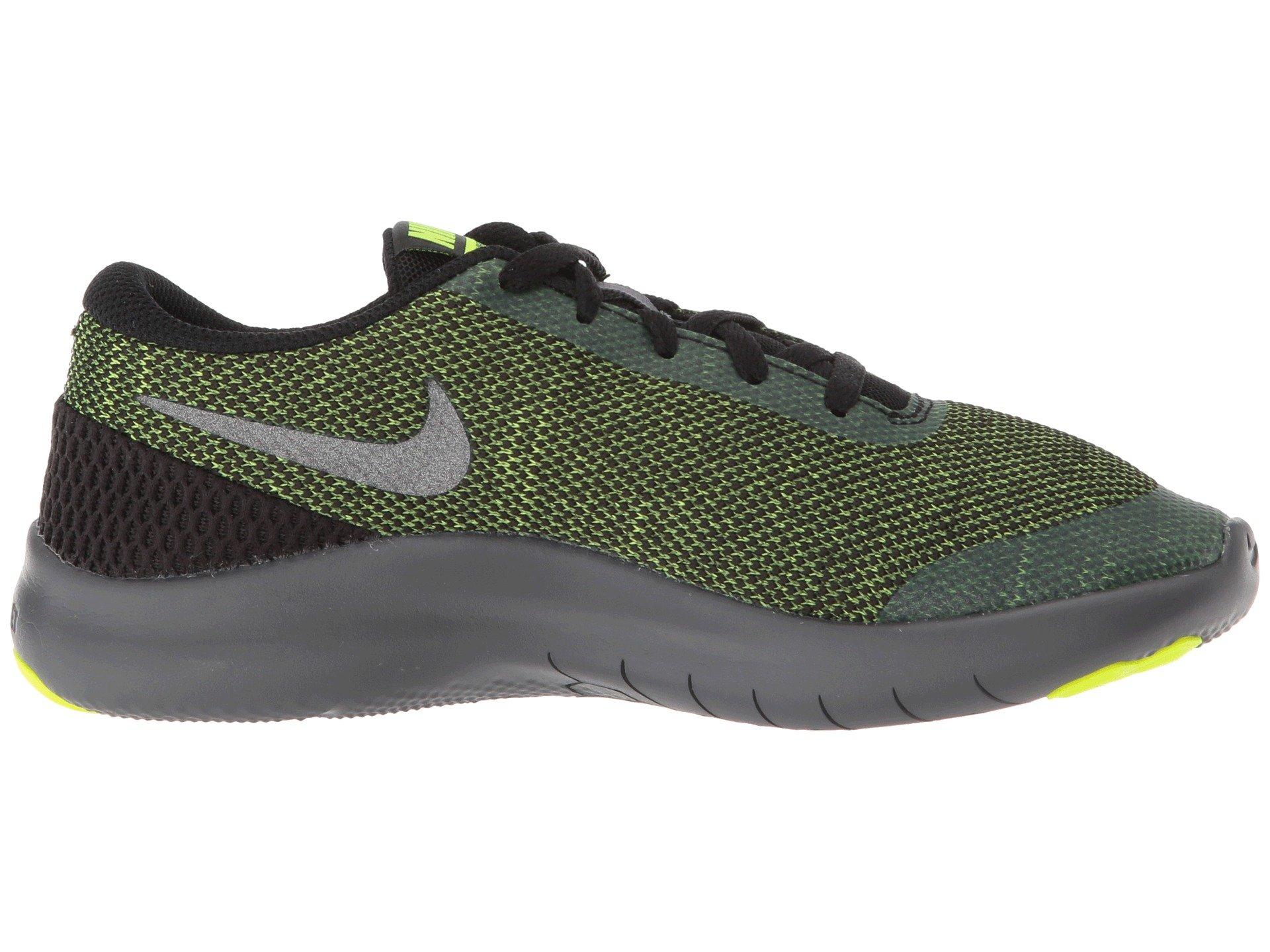 Nike Kids Flex Experience RN 7 (GS) Running Shoes (3.5 Big Kid M, Black/Metallic Dark Grey/Volt/Dark Grey) by Nike (Image #8)