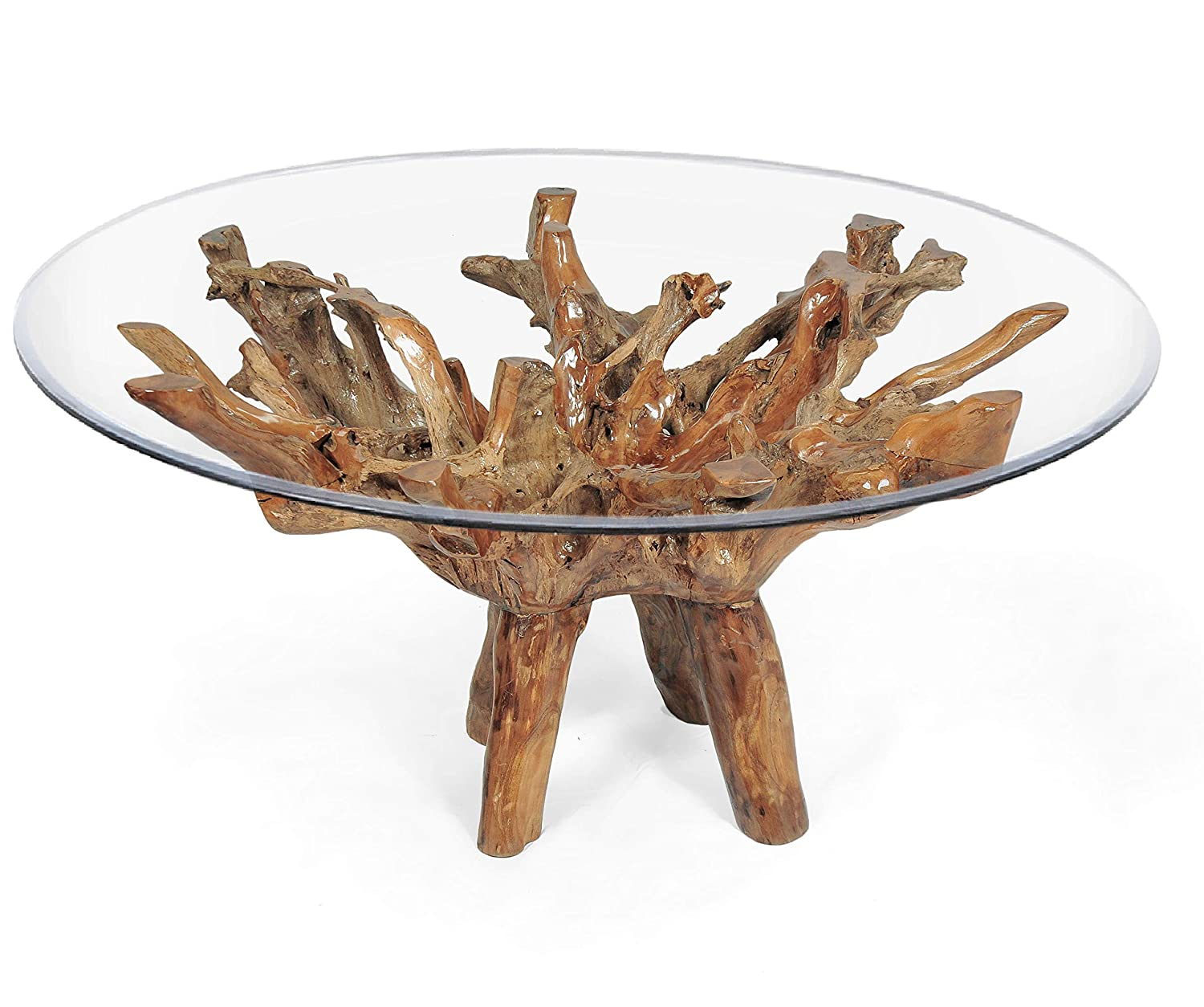 Stupendous Amazon Com Teak Root Dining Table For 70 Inch Glass Top Beatyapartments Chair Design Images Beatyapartmentscom