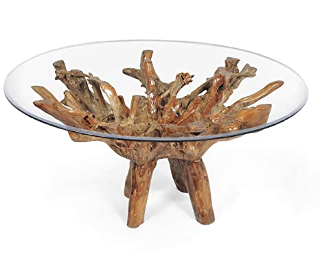 Phenomenal Amazon Com Teak Root Dining Table For 70 Inch Glass Top Caraccident5 Cool Chair Designs And Ideas Caraccident5Info