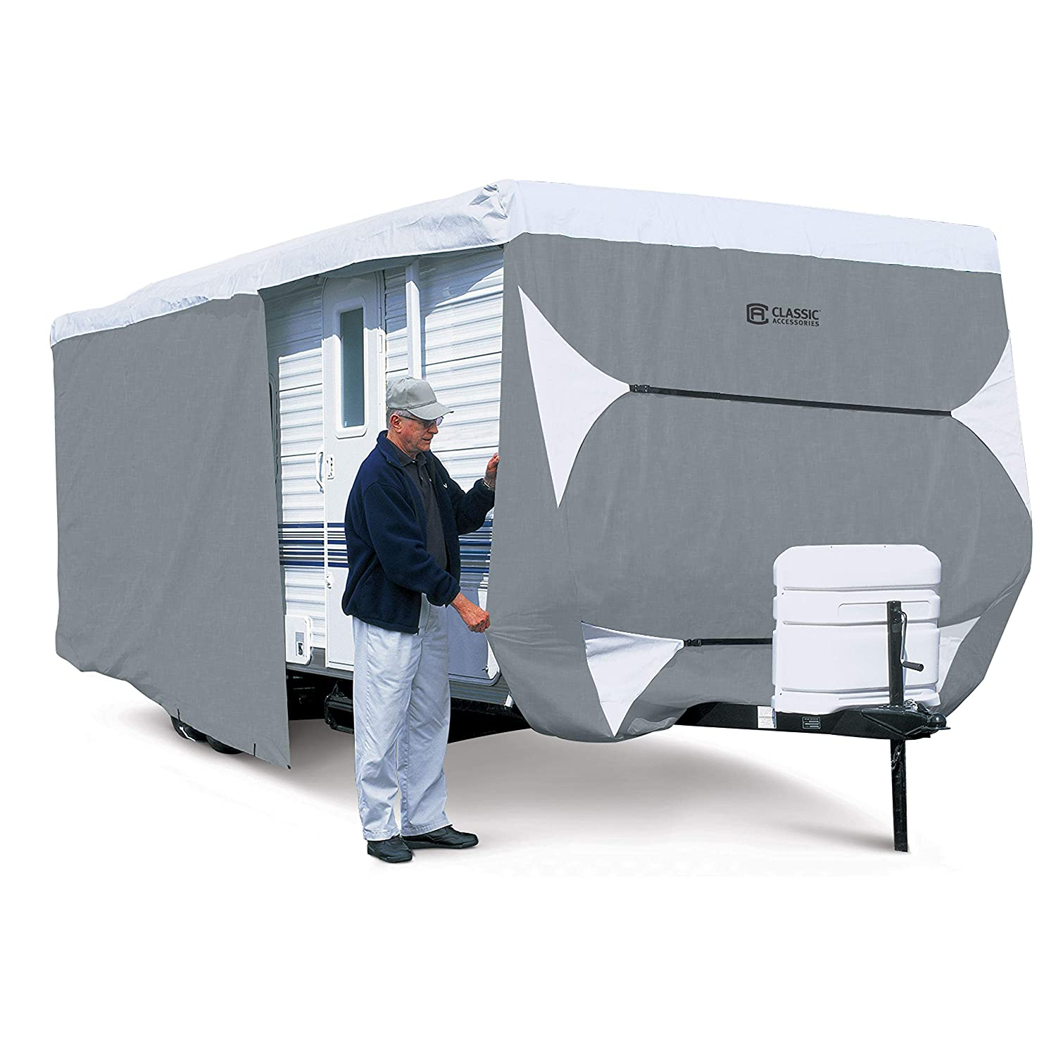 Classic Accessories 80-351-303101-RT Overdrive PolyPro 3 Deluxe Travel Trailer Cover, Fits 15' - 18' Fits 15' - 18'