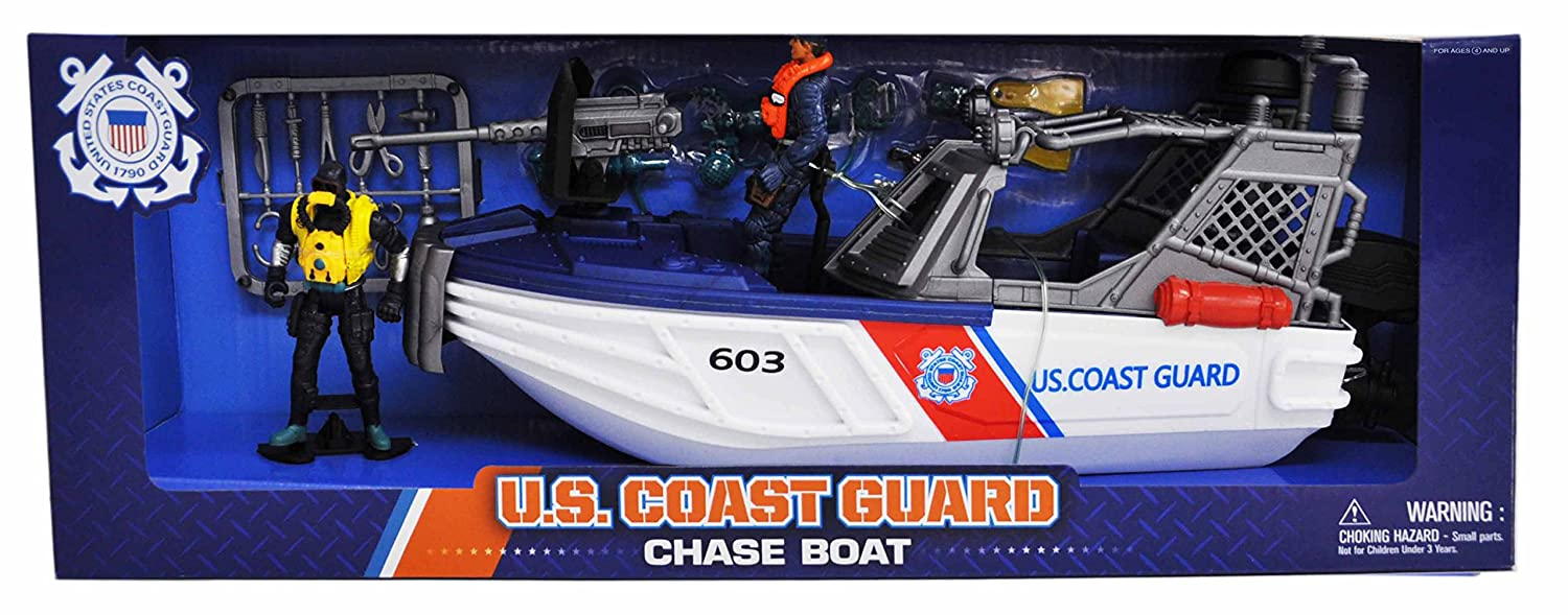Amazon united states coast guard chase boat playset toys games fandeluxe Gallery
