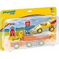 Playmobil 123  - 6761 - Figurine - Voiture de Course avec Camion de Transport