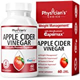 Apple Cider Vinegar Capsules for Weight Loss Support (Award Winning Capsimax Formula), Fat Burners for Women & Men, Promotes