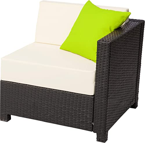 Mcombo Aluminum Patio Outdoor Wicker Corner Sofa Couch Rattan Chair Furniture