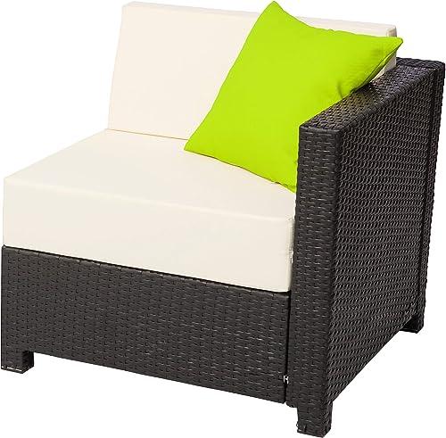 Mcombo Aluminum Patio Outdoor Wicker Corner Sofa Couch Rattan Chair Furniture