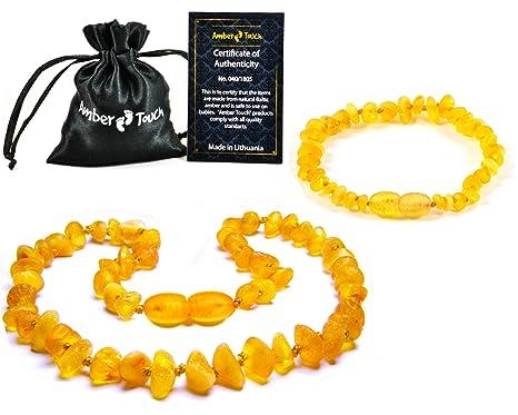 Amber Teething Necklace Bracelet