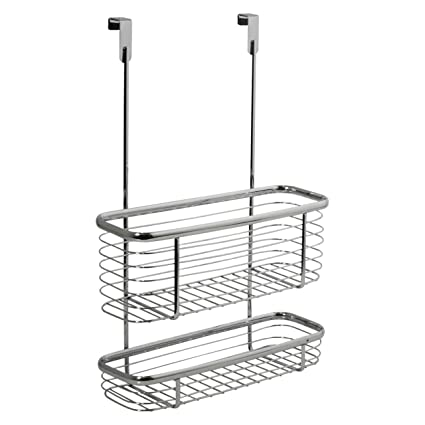 InterDesign Axis Over The Cabinet Kitchen Storage Organizer Basket For  Aluminum Foil, Sandwich Bags,
