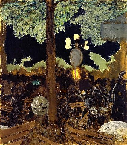 amazon com edouard vuillard cafe in the bois de boulogne at night