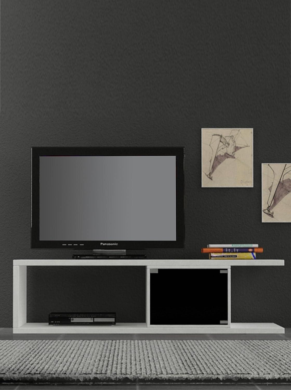 Decortie By Homemania Mobile TV Vino Blanco/Negro: Amazon.es: Hogar