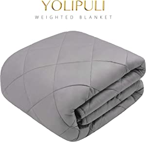 Free YOLIPULI-Weighted-Blanket-Adult-15-lbs