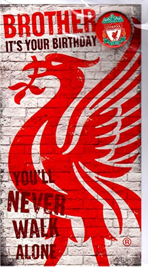 Liverpool Happy Birthday Brother Card With Badge