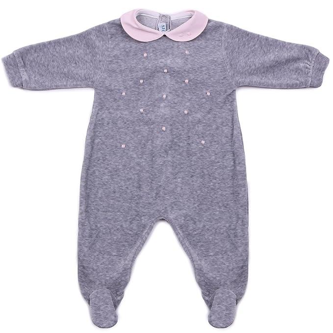 SIOLA - Pelele - para bebé niña Grigio/Rosa 0 Meses