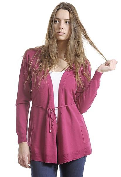 Amichi, Chaqueta picos cinturón - Mujer - Rosa - Talla XXXXL: Amazon.es: Ropa y accesorios