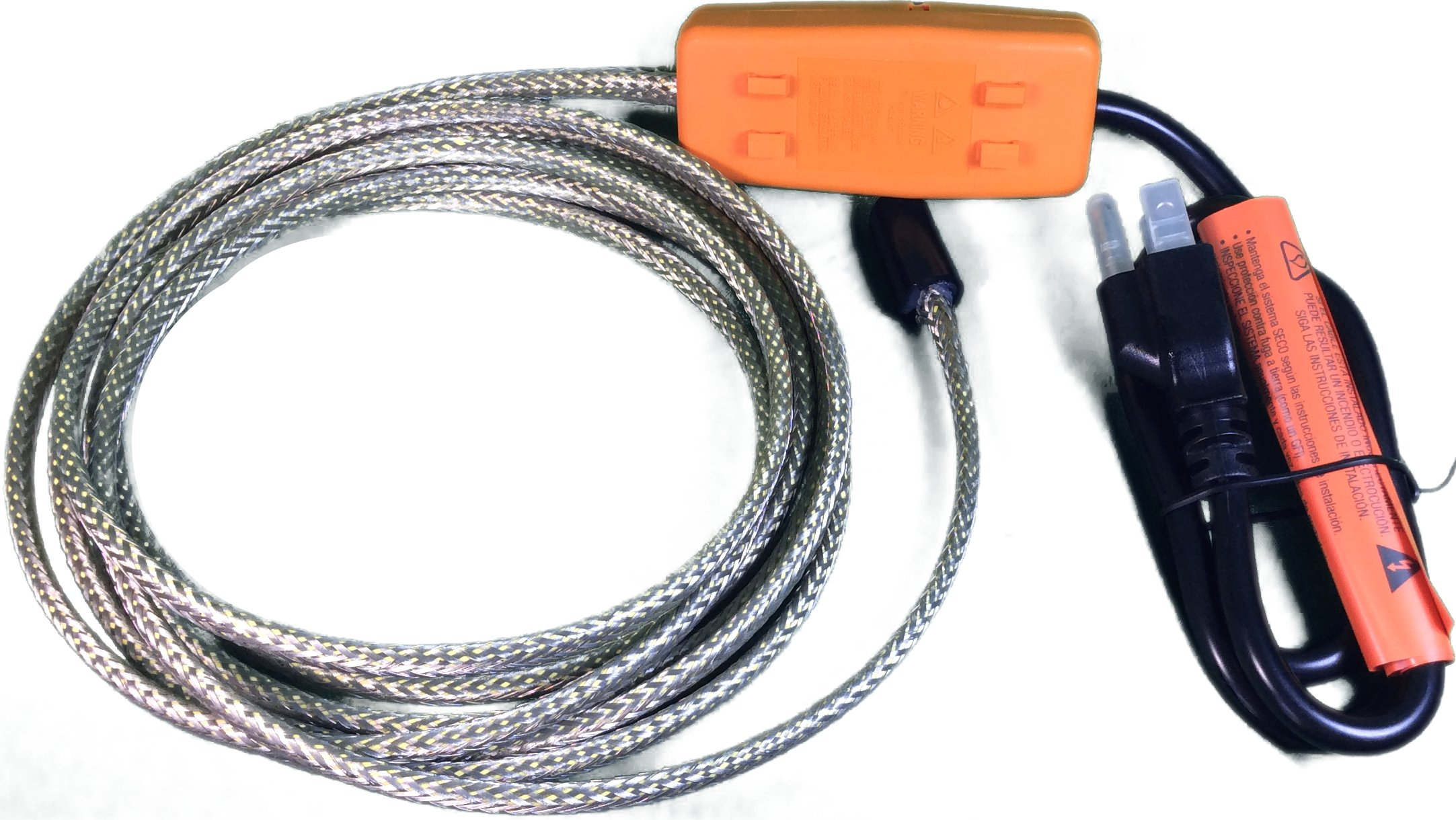 Heat Tape Easy Heat Freeze Protection Cable Waterline Heater Pre-cut to 50 Foot includes Installed Plug Head by Easy Heat