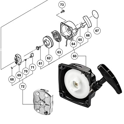 Amazon Com 1pz 33l 001 Recoil Pull Starter For 49cc Fs509 Cateye